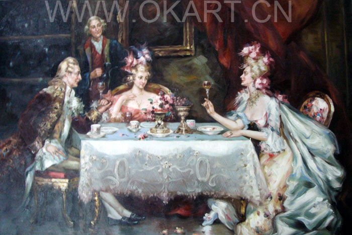 "Oil painting(courtscene-001,24""*36"")"
