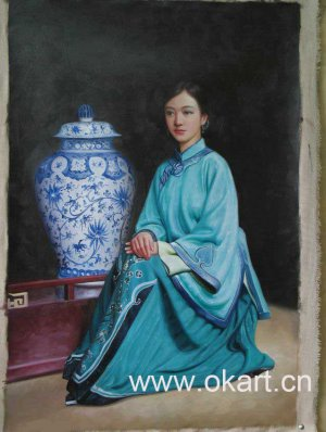 "Oil painting(Chinese people-004,24""*36"")"