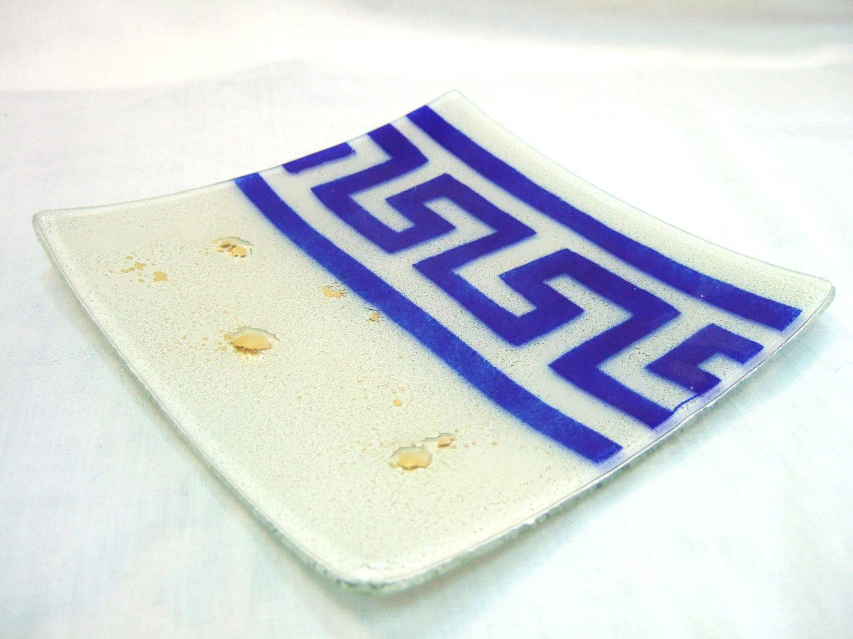 Fused ancient Greek plate