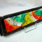 Fused glass candleholders