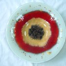 ''Red Eye'' fused glass bowl