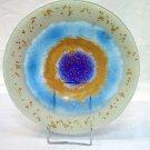 ''Blue Eye'' fused glass bowl
