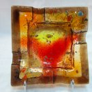 Fused glass ashtray