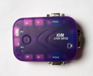 KVM switch 2 ports -Control 2 computers from a single PS/2 console