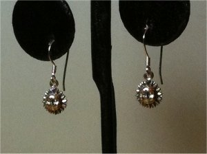 PETITE Sun SOLID 925 SOLID Sterling Silver Dangle Earrings-HANDMADE