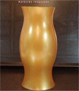 "Partylite Frosted Gold 12"" Hurricane RETIRED"