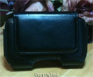 I Phone 3GS GENUINE Leather Case with Magnetic Flap