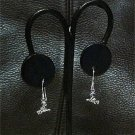 HANDMADE Witch-on-a-Broom PETITE Dangle Earrings SOLID Sterling Silver