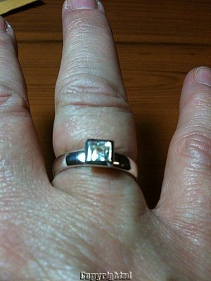 0.45ctw GENUINE White Topaz Ring SOLID 925 Sterling Silver Size 6