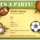 Sports of course invitations 10