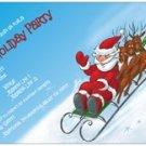 Slip and Slide Christmas Invitation/Card 10