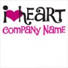 "I Heart ""Your company name"" T Shirt 100% Cotton"