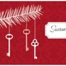 Personalized Key Christmas Cards 20