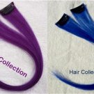 "12"" 2 Blue & 2Purple -  Human Hair Clip In Extensions for Highlight"
