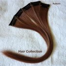 "12"" Auburn Remy Human Hair Clip In Extensions for Highlights(5pcs)"