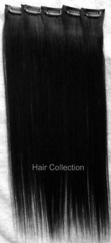 "18""#1 Remy 100% Human Hair Clip On In Extensions 5pcs"