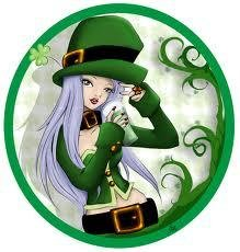 """St.Patricks-12""""Green Human Hair Clip In Extensions  for Highlights"""