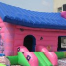 Inflatable Pink House Bouncer-J12