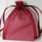 "50pcs 4"" x 6"" Dark Red Sheer Organza Bag"