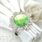 100 Vintage Stone Silver Light Green Napkin Ring