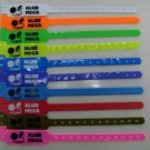 500 Neon Orange Disposable ID Wristband