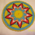 Starburst Design - Yellow - Rosette - 5""