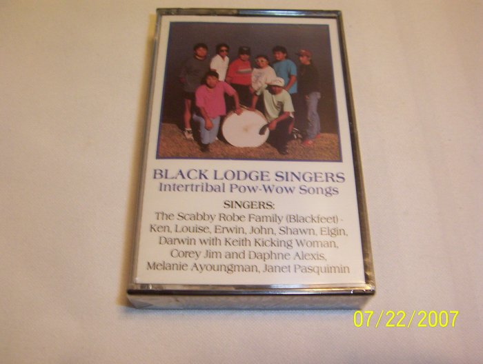 Intertribal Pow-Wow Songs - Vol 5 by Black Lodge Singers Cassette