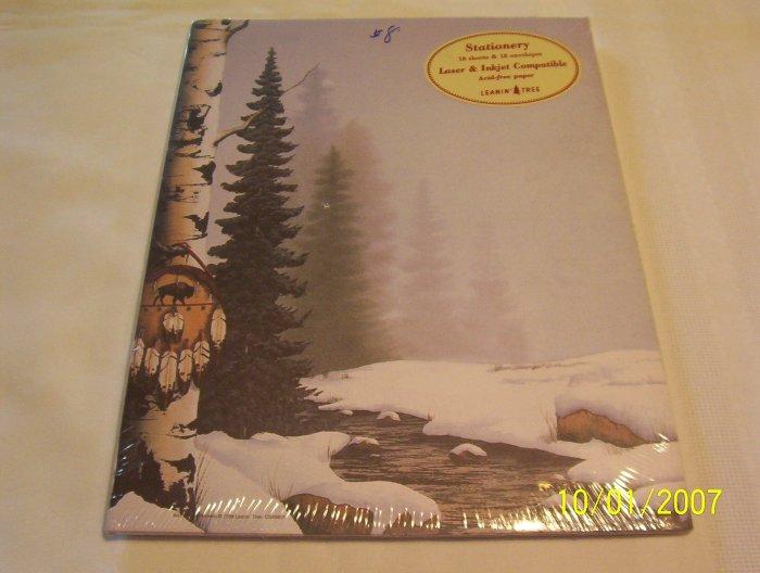 Winter Buffalo Shield Stationery
