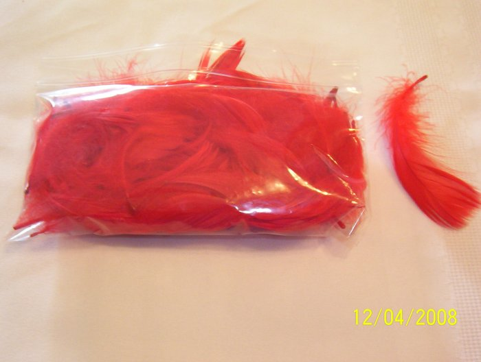 Red Florette Feathers - 1/2 oz