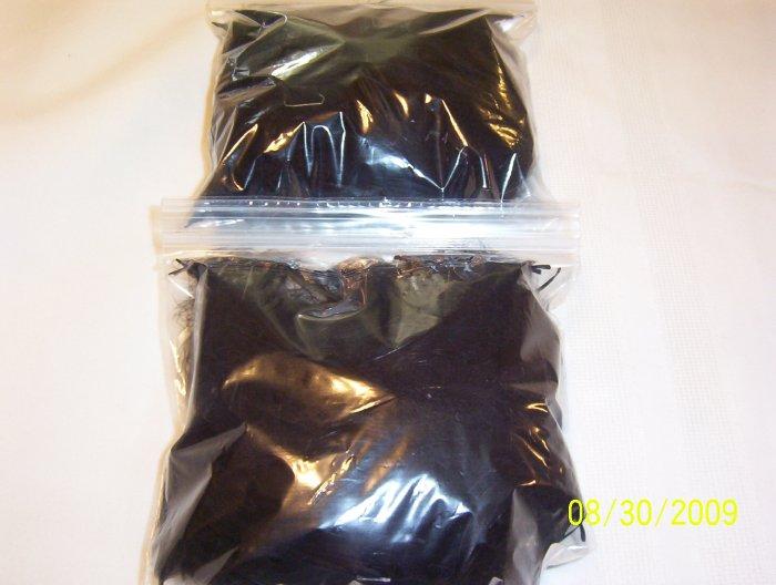 Black Florette Feathers - 1 oz