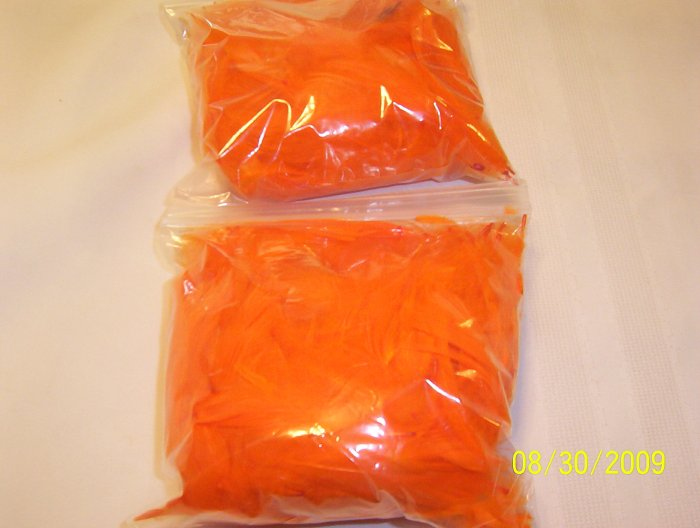 Orange Florette Feathers - 1 oz