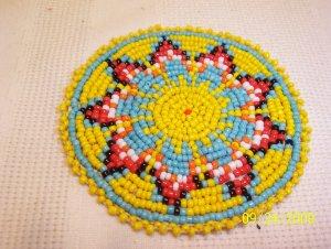 """Starburst Design - Yellow - Rosette - 3"""""""