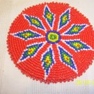 Red w/ White/Blue Diamonds Rosette - 4""