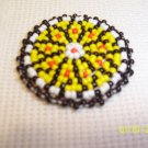 Black w/ Yellow and Black Rosette - 1 1/2""