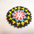 Black w/ Red/White/Blue/Yellow Rosette - 1 1/2""
