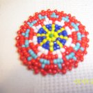 Red w/ Light Blue/White/Royal Blue/Yellow Rosette - 1 1/2""