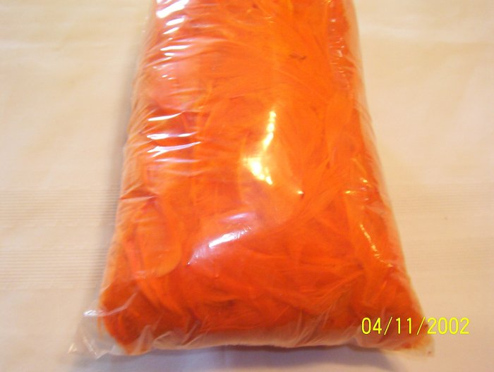 Orange Florette Feathers - 2 oz