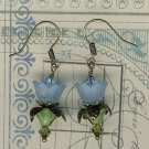 Light Blue Lovely Lucite Flower Earrings