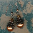 Copper Bali Pearl  Earrings