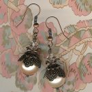 Light Peach Pearl Bali Earrings