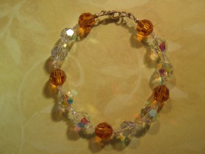 Swarovski Crystal Bracelet Topaz and Crystal