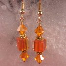 David Christensen Glass Earrings Orange
