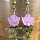 Purple lovely Lucite Flower Earring