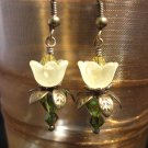 Yellow lovely Lucite Flower Earring