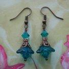 Handmade Vintage Indicolite Swarovski Crystal Earrings