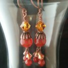 Carnelian and Copper Earrings