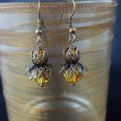 8mm Round Sunflower Swarovski Crystal Earring