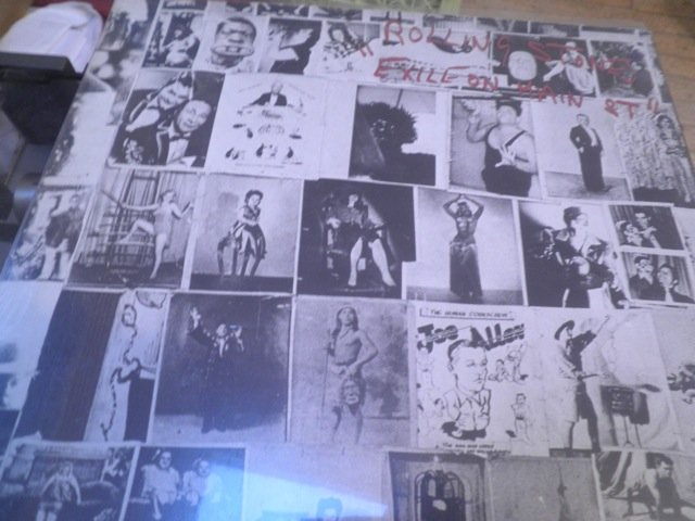 THE ROLLING STONES  - EXILE ON MAIN STREET orig w/ post cards LP