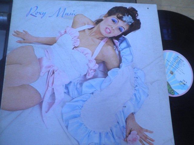 ROXY MUSIC w/ BRIAN ENO- S/T orig UK pink rim Island LP