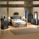 Back Bay Dark Chocolate Wood Panel Headboard 4 Piece Set
